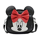 Kids Cute Bowknot Crossbody Purse Shoulder Bag with Mouse Ears, Fashion Schoolbag Satchel