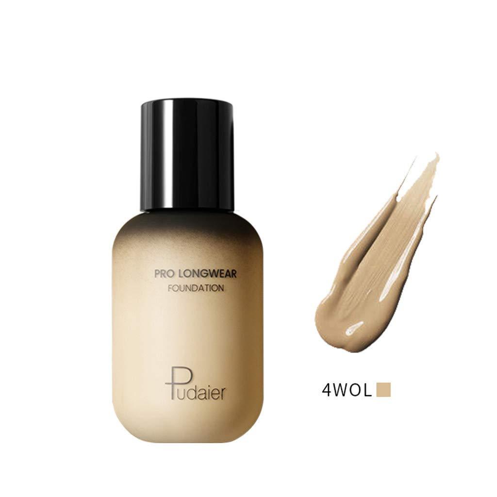 Women Liquid Foundation Makeup Real Moisture Liquid Foundation and Sunscreen for Combination/Oily Skin (Multicolor, 4WOL)