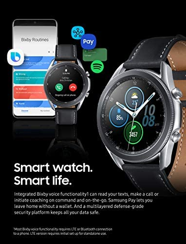 Samsung Galaxy Watch 3 (45mm, GPS, Bluetooth) Smart Watch with Advanced Health Monitoring, Fitness Tracking, and Long lasting Battery - Mystic Silver (US Version) 7