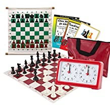 Scholastic Club Starter Kit - For 20 Members - With Quartz Chess Clocks - Red - by US Chess Federation