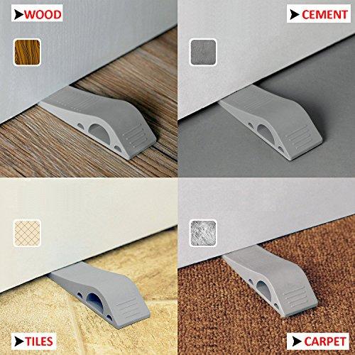 Good Door Stopper Rubber Door Stops Decorative Baby Safety Premium Door Stop  With Free Bonus Holders Works On All Floor Surfaces Durable Non Skids  Flexible ...