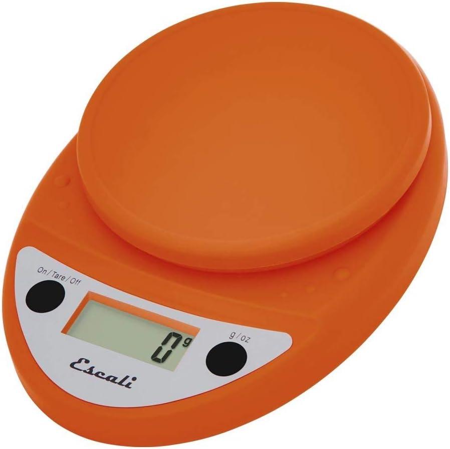 Amazon Com Escali Primo Lightweight Scale Standard Pumpkin Orange Digital Kitchen Scales Kitchen Dining