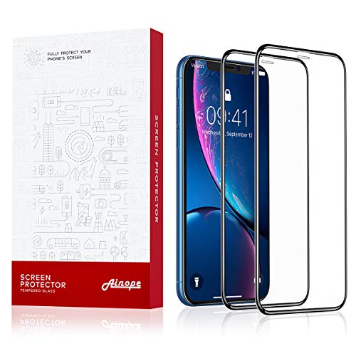 - AINOPE [2-Pack] Screen Protector Compatible Apple iPhone XR (6.1 inch), [Full Coverage] [Case Friendly] [6X Strong] for iPhone 10r Screen Protector, Apple iPhone 6.1 inch IPXr (2018)