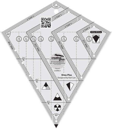 Plus Ruler (Creative Grids Kites Plus Quilting Ruler Template CGRKC1)