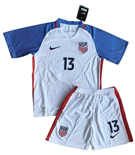 timeless design e8304 30014 RenJing Dun 2016-2017 Alex Morgan #13 USA National Home Jersey and Shorts  for Kids/Youth (11-13 Year)