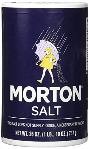 Morton Salt Regular Salt, 26 Oz, Pack of 2