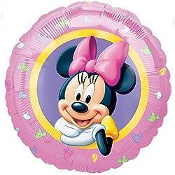 Amscan - Globo redondo de aluminio diseño Disney Minnie Mouse