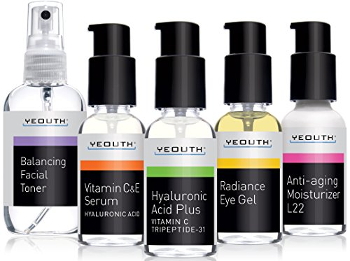 Best Complete Anti Aging Skin Care System, YEOUTH 5 Pack - B