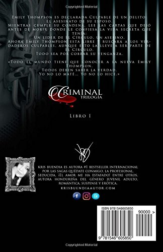 Amazon.com: Culpable (Trilogía Criminal) (Volume 1) (Spanish Edition) (9781546605850): Kris Buendia: Books