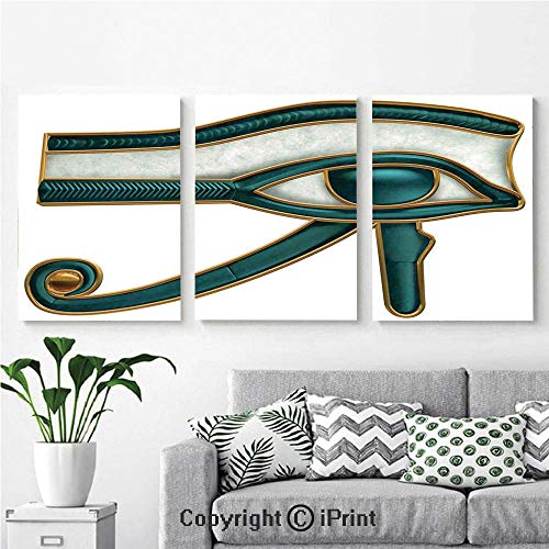 Wall Art Decor 3 Pcs High Definition Printing Eye of Horus Wadjet Ancient Egyptian Symbol of Protection Image Painting Home Decoration Living Room Bedroom Background,16