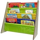 Sorbus® Kids Bookshelf - Bright Primary Color Pockets Toddler Bookcase