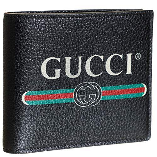 476137a3647a Amazon | GUCCI(グッチ) 財布 メンズ GUCCI PRINT 2つ折り財布 NERO 496316-0GCAT-8163  [並行輸入品] | GUCCI(グッチ) | 財布