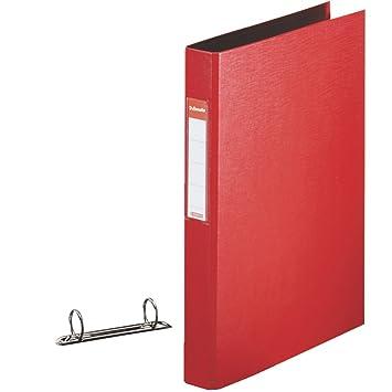 Carpeta de 2 anillas rojo Esselte, A4 tamaño correspondencia, diámetro interno de anillo 25