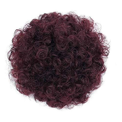 Women's Wigs Weaving Black Pretty Woman Girl Ponytail Holder Hairpiece Afro Puff Wig Hair Ring Bun (C)