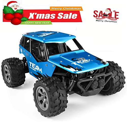 RC Car Toys, Off Road Cars Vehicle 4WD 2.4Ghz 1/16 Crawlers Off Road Vehicle Toy Remote Control Car, Best Gift for Kids and Adults
