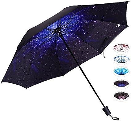 Amazon.com: Paraguas de Viaje Compacto Para Mujer Anti-UV ...