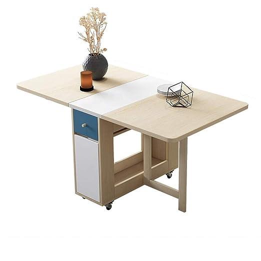 LLRDIAN Mesa Plegable Simple Mesa de Comedor y Silla combinación ...