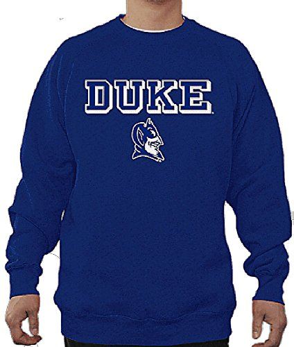 Duke Blue Devils Mens Royal Embroidered College Classic Crewneck Sweatshirt ()