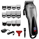 AWYP Professional barber hair clipper electric hair trimmer man rechargeable hair cutting machine haircut compatible for wahl pro (Color : 12 comb)