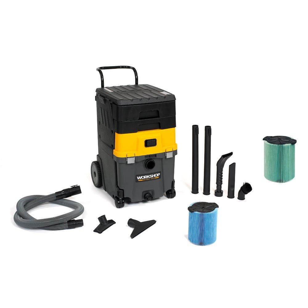 WORKSHOP Wet/Dry Vacs WS1100CA Mobile Wet Dry Shop Vacuum Station, 11-Gallon, 6.5 Peak HP with HEPA Media Filter