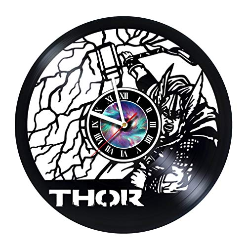 - StepArtHouse Thor City - Handmade Vinyl Wall Clock Get Unique Gifts Presents for Birthday, Christmas, Ideas for Boys, Girls, Men, Women, Adults, him and her - Unique Design