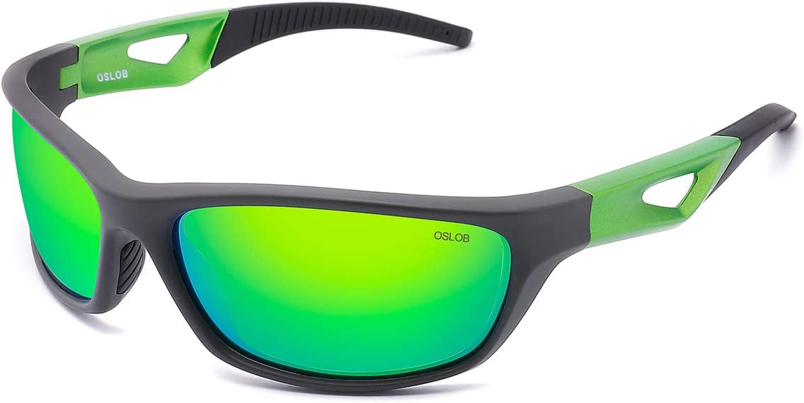 OSLOB Polarized Sports Sunglasses for Women Men Cycling Running Driving UV Protection Glasses ST003