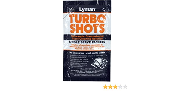 Amazon.com : Lyman Products Turbo Shots Single Serve Ultrasonic Steel Cleaning Solution (Pack of 10) : Hunting Cleaning And Maintenance Products : Sports & ...