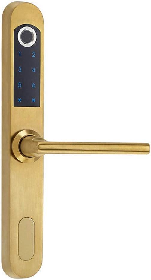 Amazon Com Electronic Door Lock Home Smart Lock Fingerprint Lock Sliding Door Fingerprint Password Lock Fingerprint Lock Deadbolts Color Gold Size One Size Home Kitchen