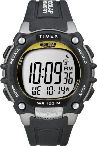 Timex Men's Ironman Triathlon 100-Lap with Flix System Fullsize 5E231