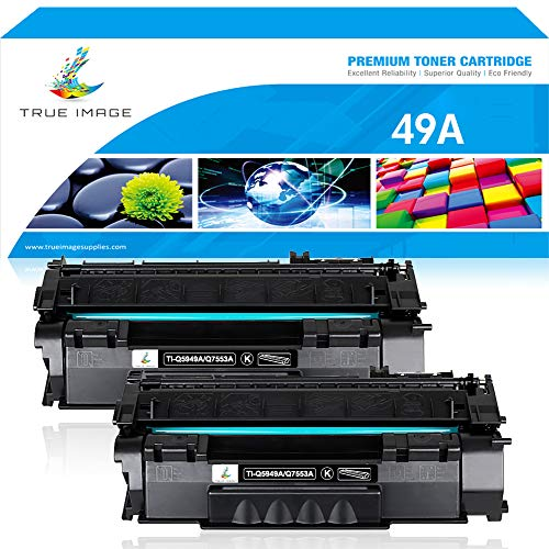 (True Image Compatible Toner Cartridge Replacement for HP 49A Q5949A 53A Q7553A Toner for HP Laserjet 1320 1320n 1320tn 1320nw HP Laserjet 3390 3392 Laserjet P2015 P2015dn M2727nf M2727 MFP Printer Ink)