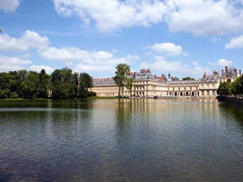 Tollyee Castle Fontainebleau France Art Print On Canvas Wall Art for Home Decoration Wooden Framed 16