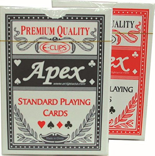 K&A Company Cards Playing Plastic Coated Standard Deck Case Pack 60