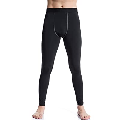 Yuerlian Men's Compression Cool Dry BaseLayer Pants Under Leggings Sports Tight 3 Pack