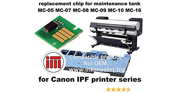 Ink Master - Replacement chip for maintenance tank CANON IPF MC CHIP for Canon IPF 500 510 600 605 610 650 655 670 680 700 710 720 750 755 760 765 770 780 810 815 820 825 830 840 850 5000 5100 6000S 6100 6200 6300 6350 6400 6400SE 6450 8000 8000S 8100 ...