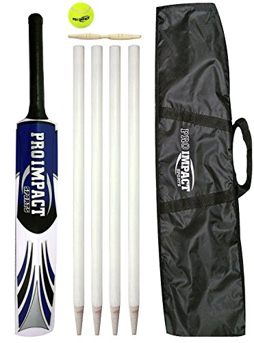 Pro Impact JUNIOR Cricket Bat Set includes BAT, BALL, WICKETS, BAILS by Pro Impact