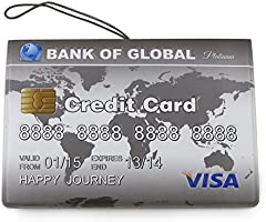 Amazon.com: 3d Visa Tarjeta de Crédito Pattern – Funda de ...