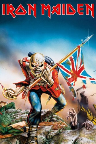iron maiden the trooper poster