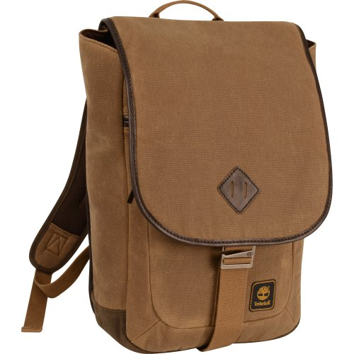 Timberland Messenger Backpack Briefcase Travel Bag, Brown/Tan ()