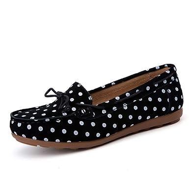 FHTD Zapatos De Mujer Cuero Primavera Otoño Mocasines Planos Slip-ONS Mocasines Informales Calzado De Enfermera: Amazon.es: Ropa y accesorios