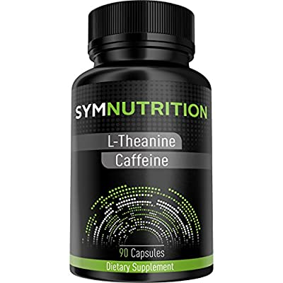 L-Theanine 200mg, Caffeine 100mg - 90 Count ? Powerful Nootropic Stack ? Scientifically Proven to Promote Better Focus, Energy, Mood and Wakefulness ? Pure Vegetarian Capsules - By SYM Nutrition