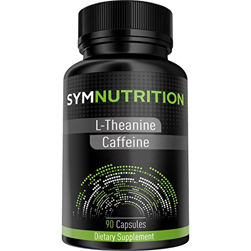 L-Theanine-200mg-Caffeine-100mg-90-Count–Powerful-Nootropic-Stack–Scientifically-Proven-to-Promote-Better-Focus-Energy-Mood-and-Wakefulness–Pure-Vegetarian-Capsules-By-SYM-Nutrition