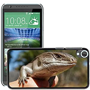 Hot Style Cell Phone PC Hard Case Cover // M00116703 Lizard Skink Blue Tongue Reptile // HTC Desire 820