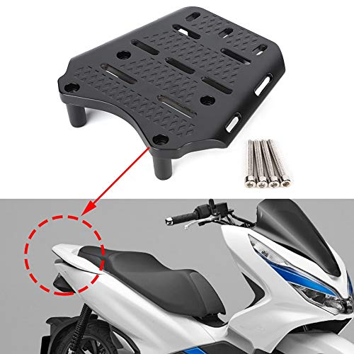 Motorcycle Luggage Rack - CNC Aluminum Alloy Motorcycle Rear Luggage Rack Holder Shelf Compatible with Honda PCX 125 150 2014-2019
