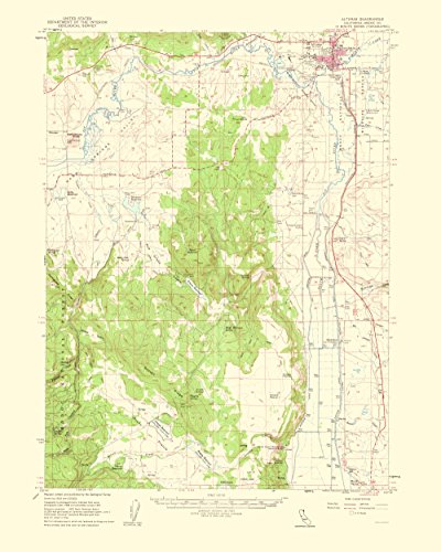 Topographical Map Print - Alturas California Quad - USGS 1963 - 23 x 28.74 - Glossy Satin Paper