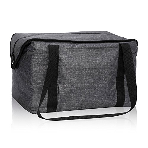 Thirty-One Fresh Market Thermal in Charcoal Crosshatch - No Monogram - 4181