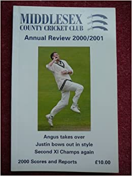 Middlesex County Cricket Club Annual Review 2000/2001