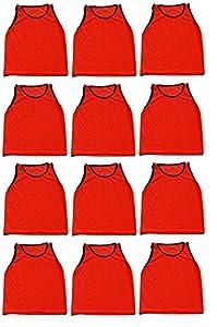 12 Pack Adult ORANGE Scrimmage Vests by World Sport