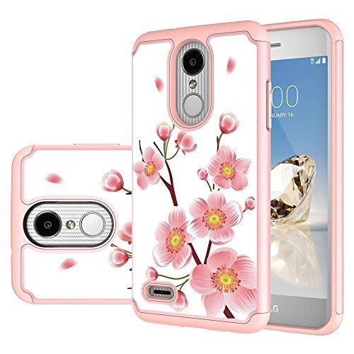 MAIKEZI LG Zone 4 Case,LG Aristo 3/Phoenix 4/Rebel 4/Aristo 2/Aristo 2 Plus/Tribute Dynasty/K8 2018/Fortune 2/Rebel 3/K8 Plus/LG Tribute Empire Dual Layer TPU Plastic Phone Case Cover(Rose Gold)