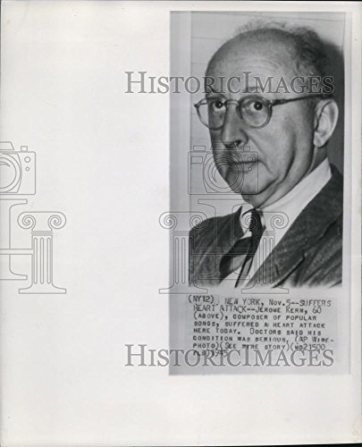 1945 Wire Photo Jerome Kern, composer of popular songs - cvw06236 - 10 x 8 in. - Historic (Jerome Kern Composer)