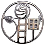 Image of Sterling Silver Charles Rennie Mackintosh Brooch (Pin) with Gift Box